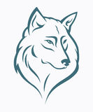 Het hoofd van de wolf Royalty-vrije Stock Foto