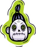 Het Hoofd van de zombie Stock Foto