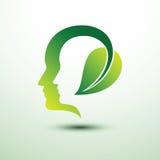 Het hoofd van Eco Royalty-vrije Stock Afbeeldingen