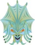Het hoofd van een vreemd schepsel stock illustratie