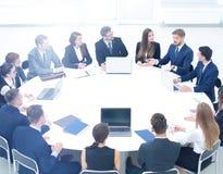 Het hoofd van het bedrijf in de loop van het seminarie luisterde aan Royalty-vrije Stock Afbeelding