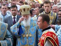 Het hoofd van het Oekraïense Orthodoxe Patriarchaat Fila van Kerkkiev Royalty-vrije Stock Afbeelding