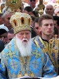Het hoofd van het Oekraïense Orthodoxe Patriarchaat Fila van Kerkkiev Royalty-vrije Stock Foto