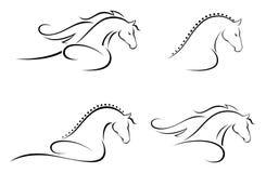 Het hoofd van het paard vector illustratie