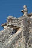Het hoofd van het serpent bij de Tempel van de Strijders royalty-vrije stock foto