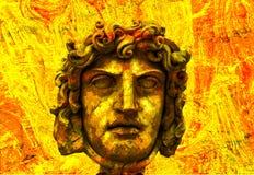 Het Hoofd van het Standbeeld van Grunge Royalty-vrije Stock Afbeelding