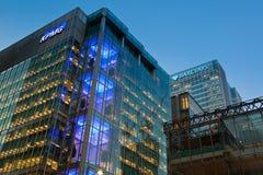 Het Hoofd van KPMG het UK offcie in de Werf van de Kanarie Royalty-vrije Stock Afbeeldingen