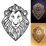 Het hoofd van leeuwen Stock Afbeeldingen