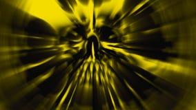 Het hoofd van het monster met een gescheurd gezicht Illustratie in genre van verschrikking vector illustratie