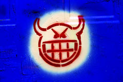Het hoofd van Satana Stock Afbeeldingen