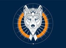 Het hoofd van Wolfs Royalty-vrije Stock Afbeeldingen
