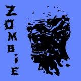 Het hoofd van zombieschreeuwen Vector illustratie royalty-vrije illustratie