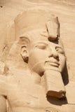 Het hoofdbeeldhouwwerk van de farao Royalty-vrije Stock Foto's