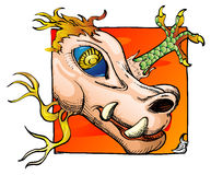 Het hoofdbeeldverhaal van de draak Royalty-vrije Stock Fotografie