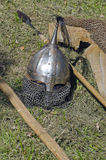 Het hoofddeksel van het ridderpantser stock afbeelding