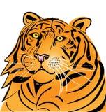 Het hoofdembleem van de tijger Stock Foto