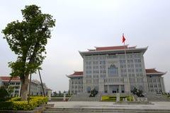 Het hoofdgebouw, nieuwe campus van xiamen universiteit Royalty-vrije Stock Foto's