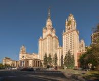 Het hoofdgebouw van de Universiteit van de Staat van Lomonosov Moskou op Sparro Royalty-vrije Stock Foto's