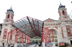 Het hoofdgebouwscène van New York Ellis Island Royalty-vrije Stock Afbeeldingen