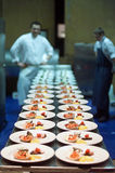 Het Hoofdgerecht van zeevruchten stock foto