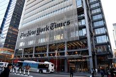 HET HET HOOFDKANTOORgebouw VAN NEW YORK TIMES Royalty-vrije Stock Afbeelding