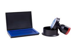 Het hoofdkussen van de zegel en van de inkt Royalty-vrije Stock Foto