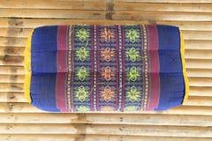 Het hoofdkussenpatroon van de traditie inheems Thais stijl Stock Fotografie