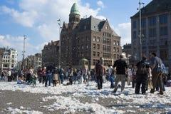 Het Hoofdkussenstrijd 2014 van Amsterdam Stock Afbeelding