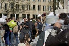 Het Hoofdkussenstrijd 2014 van Amsterdam Stock Foto's