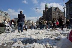 Het Hoofdkussenstrijd 2014 van Amsterdam Royalty-vrije Stock Foto's