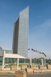 Het hoofdkwartier die van de Afrikaanse Unie Ethiop Addis Ababa inbouwen, Royalty-vrije Stock Afbeelding