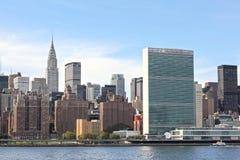 Het Hoofdkwartier NYC van de Verenigde Naties Stock Foto's