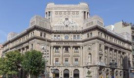 Het hoofdkwartier van Caixacatalunya Stock Foto's