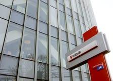 Het hoofdkwartier van de Bank van Unicredit in Boekarest Stock Afbeelding