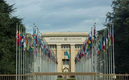Het Hoofdkwartier van de Verenigde Naties royalty-vrije stock foto's