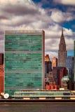 Het Hoofdkwartier van de Verenigde Naties Stock Fotografie