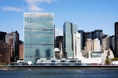Het hoofdkwartier van de Verenigde Naties - de Stad van New York royalty-vrije stock fotografie