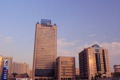 Het Hoofdkwartier van Gazprom in Moskou Stock Foto's
