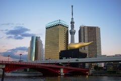 Het hoofdkwartier van het Asahibier Stock Afbeelding