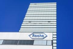 Het hoofdkwartier van Hoffmannla roche in Bazel, Zwitserland stock fotografie