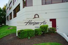 Het hoofdkwartier van horizonluchtvaartlijnen stock afbeeldingen