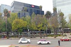 Het hoofdkwartier van HSBC Mexico-City in Zona Rosa stock fotografie
