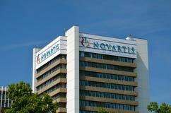 Het hoofdkwartier van Novartis in Bazel, Zwitserland Royalty-vrije Stock Afbeeldingen