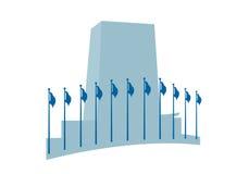 Het hoofdkwartiervector van de Verenigde Naties stock illustratie