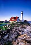 Het HoofdLicht van Portland, Maine Stock Foto's