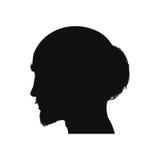 Het hoofdsilhouet van de mens stock illustratie