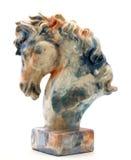 Het hoofdstandbeeld van het paard Stock Foto