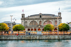 Het hoofdstation van Zürich Stock Fotografie