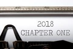 het hoofdstuk van 2018  stock foto's