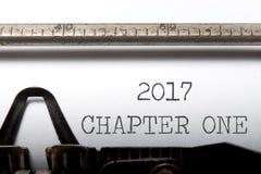 het hoofdstuk van 2017  stock foto's